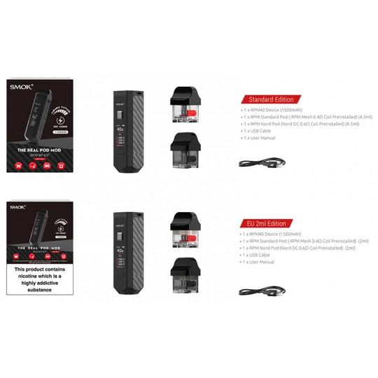 détails du kit Smoktech RPM 40