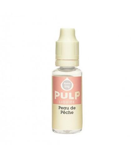 e-liquide peau de pêche en 0, 3, 6, 12, ou 18 mg/ml de la marque Pulp