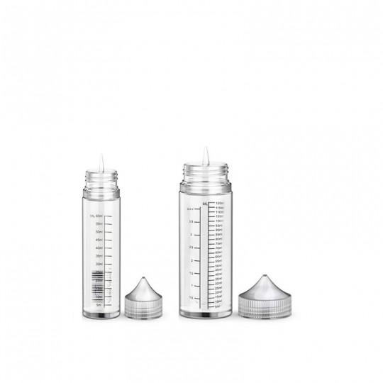 flacon aiguille vide en contenance de 60ml ou 120ml, pour préparation DIY de e-liquide