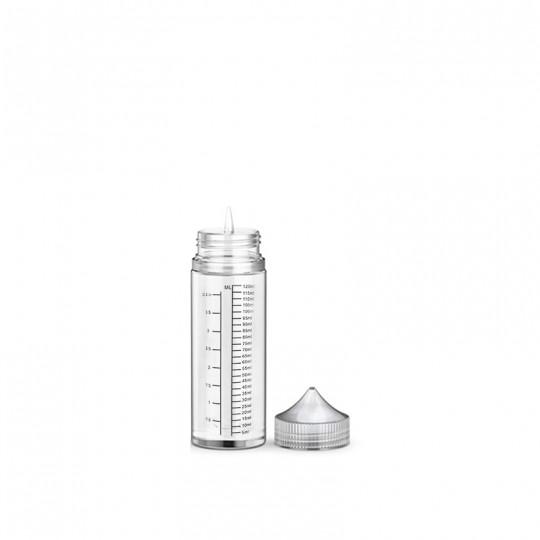 flacon aiguille vide en contenance de 120ml pour préparation DIY de e-liquide